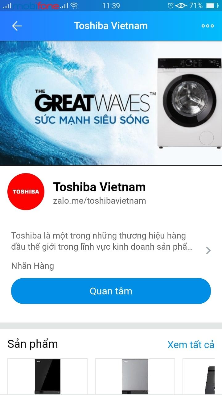 Giải pháp Zalo OA doanh nghiệp của Toshiba