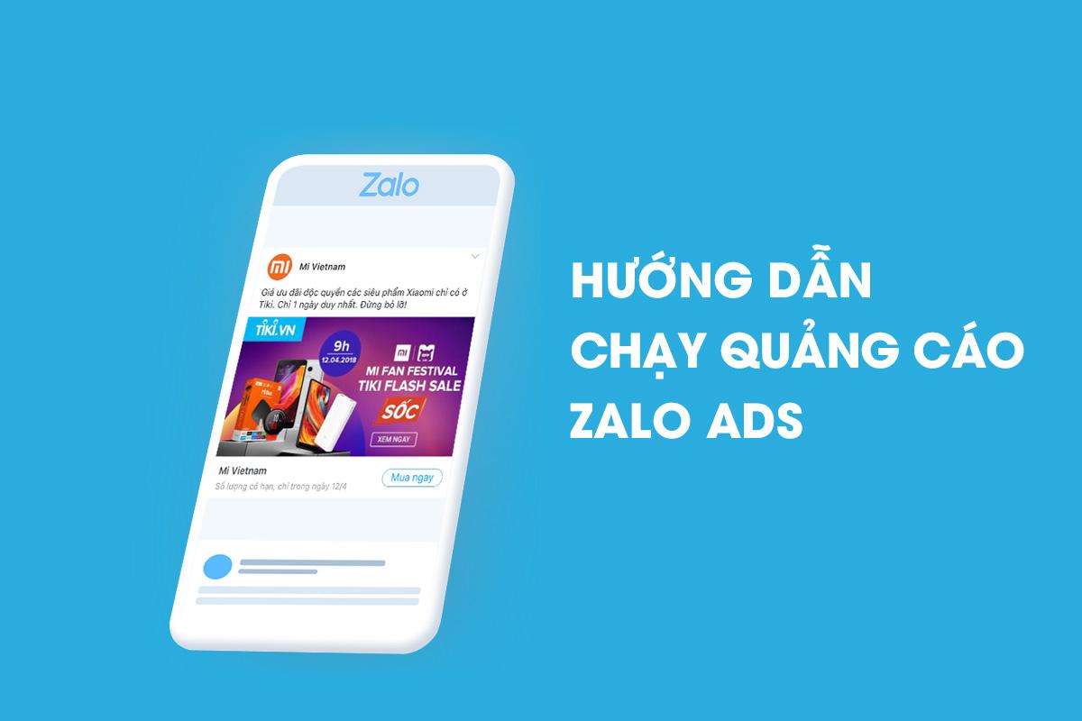 hướng dẫn chạy quảng cáo zalo